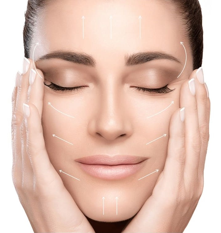 The Kontur MD device used on the face area is aimed at improving the look of sagging, crepe-like skin, droopy skin on the eyelids or jowls.